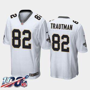 New Orleans Saints Adam Trautman White Jersey